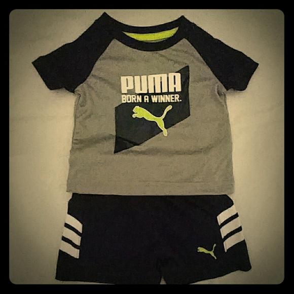 7caa682e4729 Puma Baby Boy Shorts Set Size 0-3 Mos NWT
